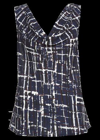 drape front chiffon top