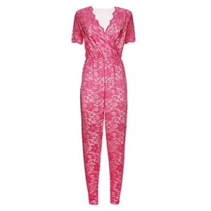 PINK LACE JUMPSUIT