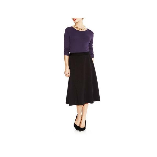 black flared skirt1