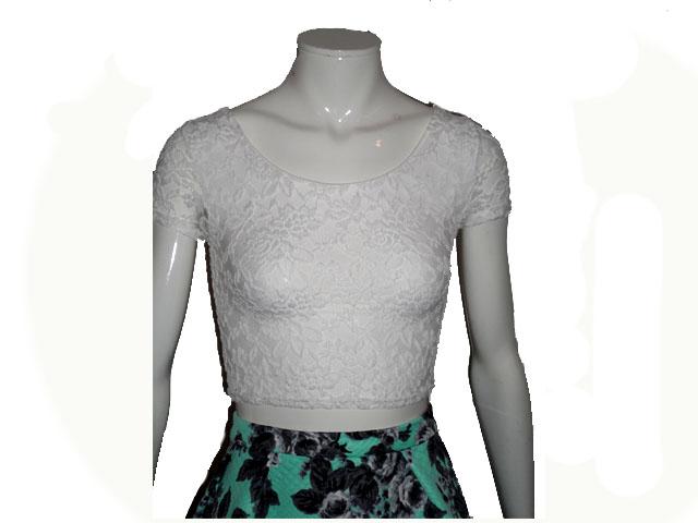 topshop lace crop top