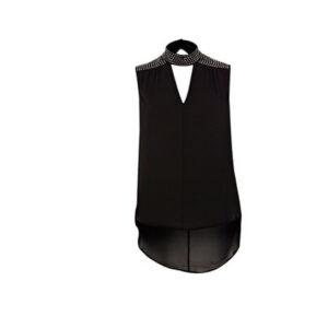 high neck sequin top