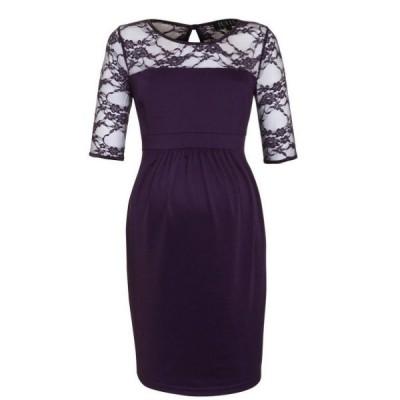 purple maternity dress lagos