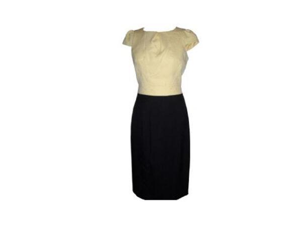 two tone jacquard dress