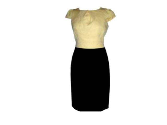 jacquard yellow dress