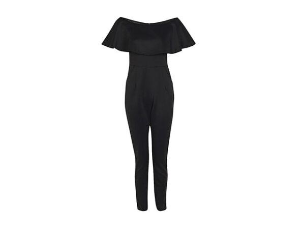 black frill jumpsuit
