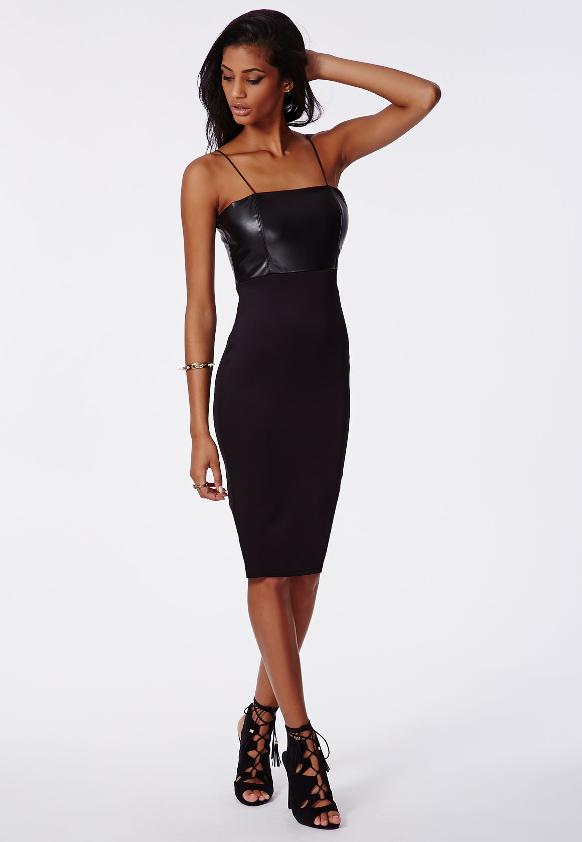 leather dress lagos