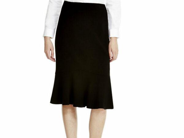 flared black skirt