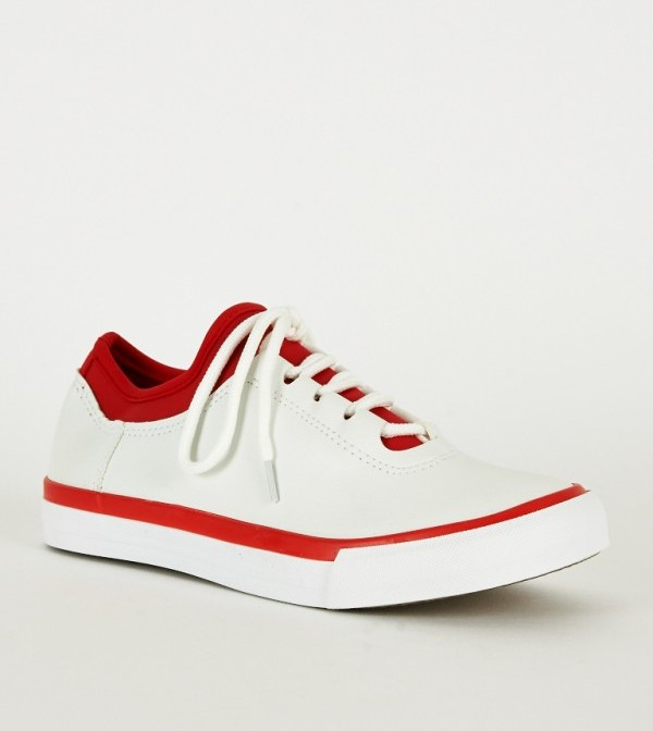 red and white trainer