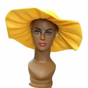 yellow womenwide brim hat