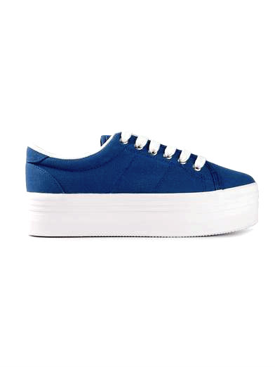 navy blue platform sneaker