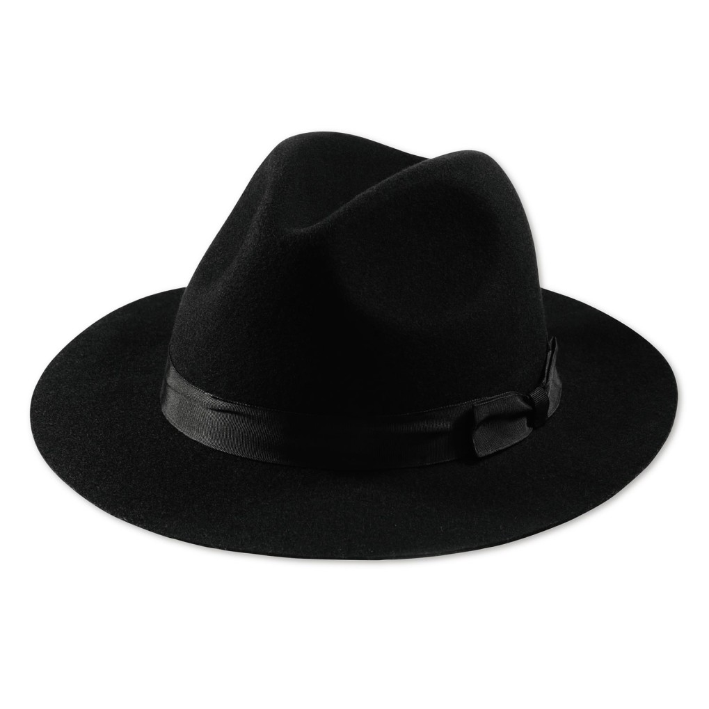 fedora hat black