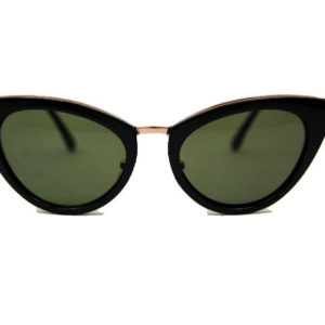 cateye glasses brown