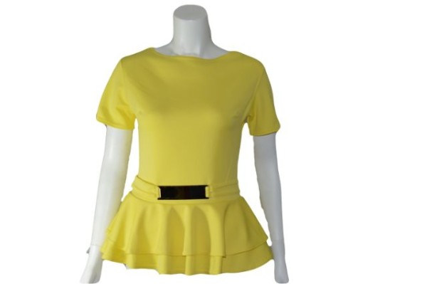 yellow teplum top