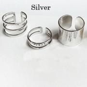 silver midi ring
