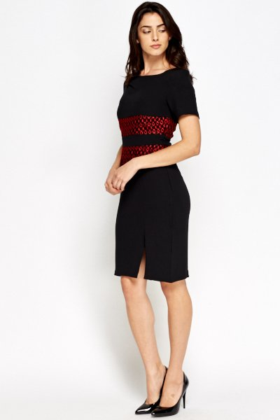 lace-overlay-pencil-dress-black-red-31566-4 – Copy