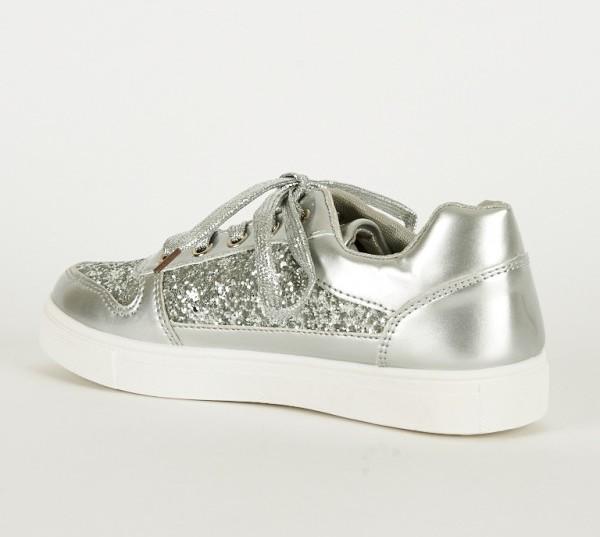 silver sneaker