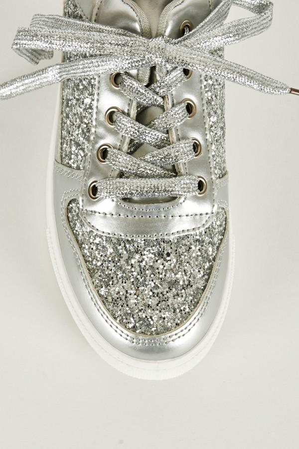 silver sneakers for women