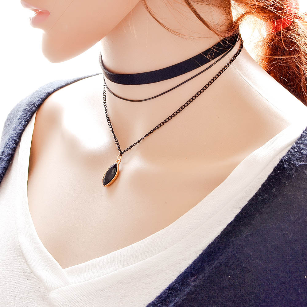 collar choker sequins pendants sexy product multilayer rhinestone chain tassel necklace women jewelry