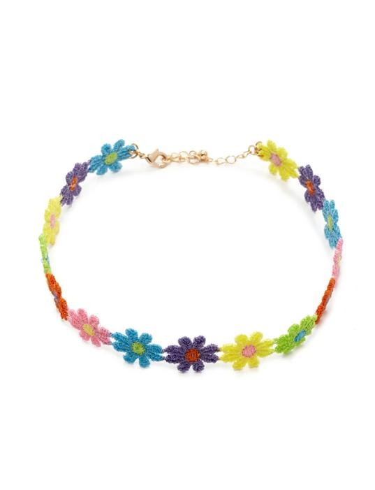 new-fashion-jewelry-cotton-lace-flower-choker-necklace-mix-color-gift-for-women-girl-n1814