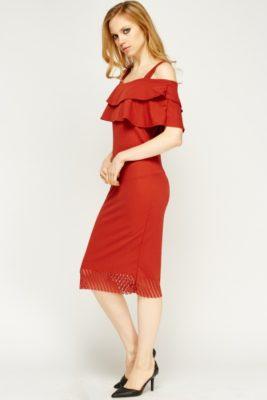 laser-cut-hem-cold-shoulder-dress-brick-54120-7