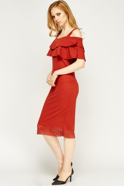 laser-cut-hem-cold-shoulder-dress-brick-54120-7