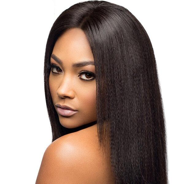 human hair straight extension