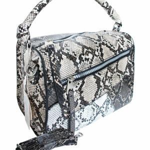 snake skin box bag
