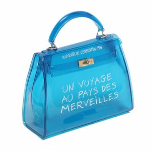 blue transparent bag